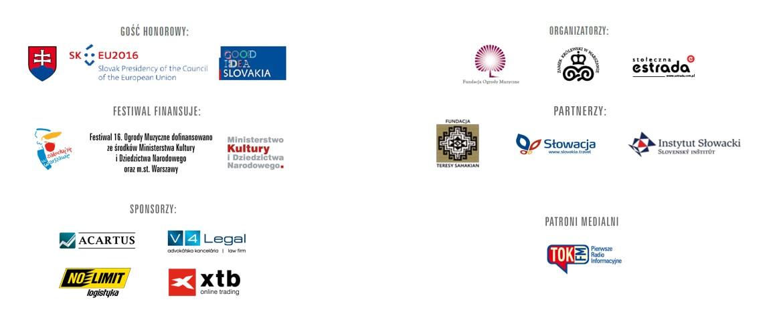 Partnerzy i organizatorzy Festiwalu Ogrody Muzyczne