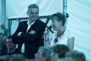 Ryszard Kubiak zKrzystyną Zazdrosińską  – prezesem Stowarzyszenia Przyjaciół Festiwalu Ogrody Mizyczne